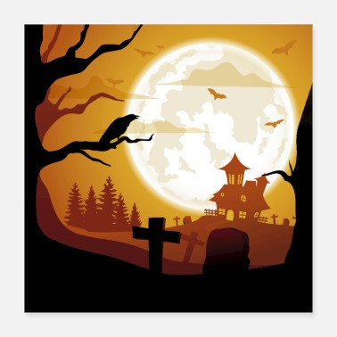 Attractive Castle Cemetery - Poster 16x16