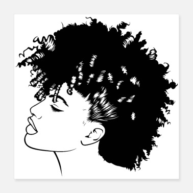 Afro Afro Woman Black Hair Style Natural Confident - Poster
