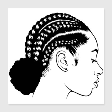 people pretty braids copy - Poster 16x16