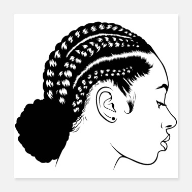 Natural Afro Woman Black Hair Style Natural Confident - Poster