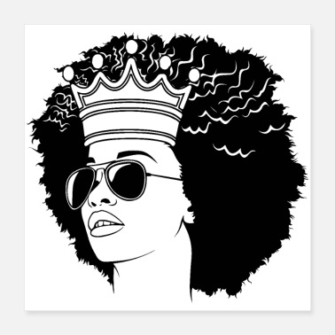 Afro people cool afro queen copy - Poster 16x16