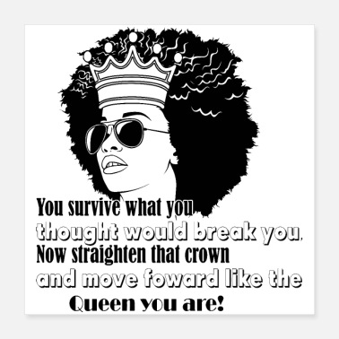 Story people cool afro queen quotes copy - Poster 16x16