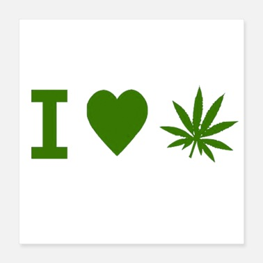 Smoke Weed I Love Weed - Poster 16x16