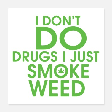 Smoke Weed I Don't Do Drugs I Just Smoke Weed - Poster 16x16