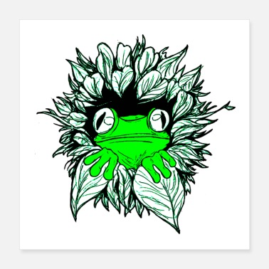Frog Frog Hiding Poster - Poster 16x16