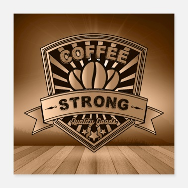 Beverage Black coffee logo - Poster 16x16