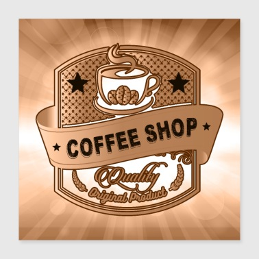 Coffee Shop - Poster 16x16