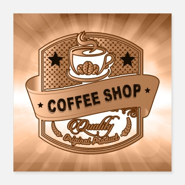 Beverage Coffee Shop - Poster 16x16
