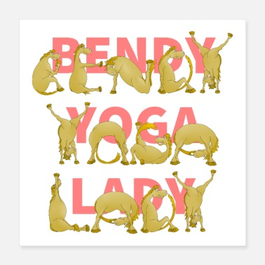 Pony Crazy Yoga Lady - Poster