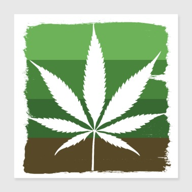 Leaf Cannabis leaf - Poster 16x16