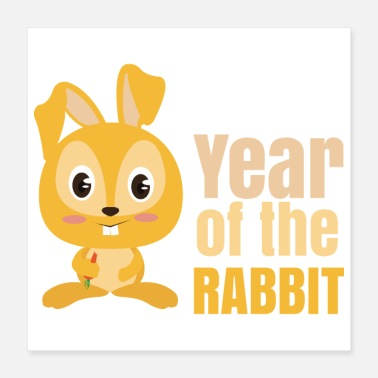 1999 Chinese Zodiacs Year of the Rabbit - Gift Idea - Poster 16x16