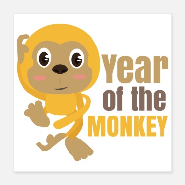 Witty Chinese Zodiacs Year of the Monkey - Gift Idea - Poster 16x16