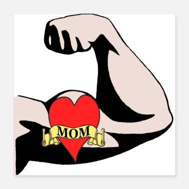 I Heart I heart Mom Tattoo on Arm - Poster