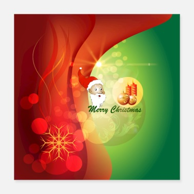 Santa Claus Merry Christmas, cute Santa Claus - Poster 16x16