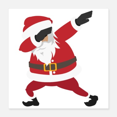 Dance Merry Christmas Dabbing Santa Claus Enjoy Gift - Poster