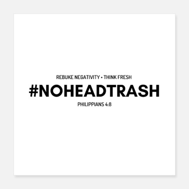 Movement NOHEADTRASH SHIRT- BLACK & WHITE - Poster 16x16