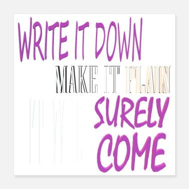 Down WRITE IT DOWN - Poster 16x16