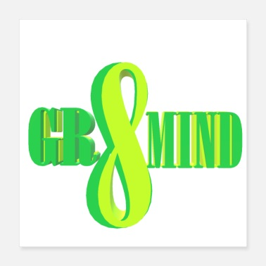 Motto GREATMIND - Poster 16x16