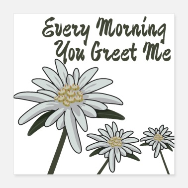 Alps Edelweiss Every Morning You Greet Me - Gift Idea - Poster 16x16