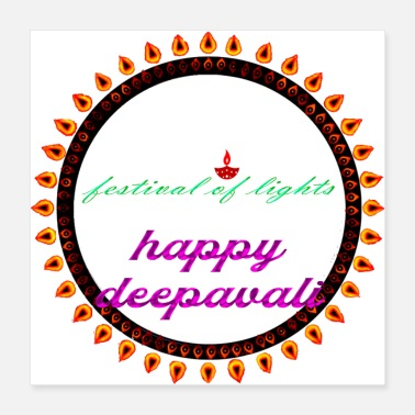 Festival Festival of Lights Deepavali - Poster 16x16