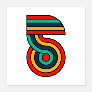 Five five typography - Poster