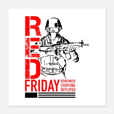 Military Red Friday Military - Poster 16x16