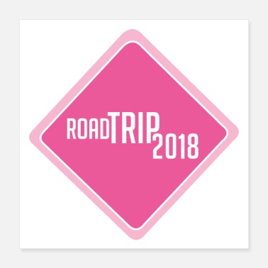 Vacation road trip 2018 t shirt family vacation t shirts - Poster 16x16
