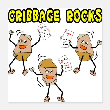 Cards Cribbage Rocks - Poster 16x16