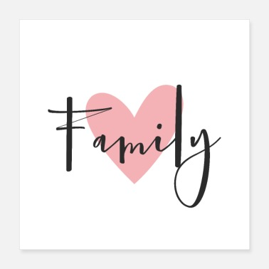 Wall Decoration Family heart love decoration gift - Poster 16x16