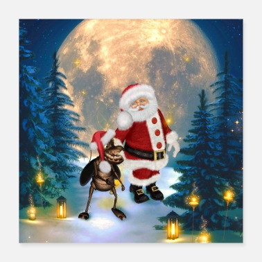 Advent Merry christmas, Santa claus - Poster 16x16