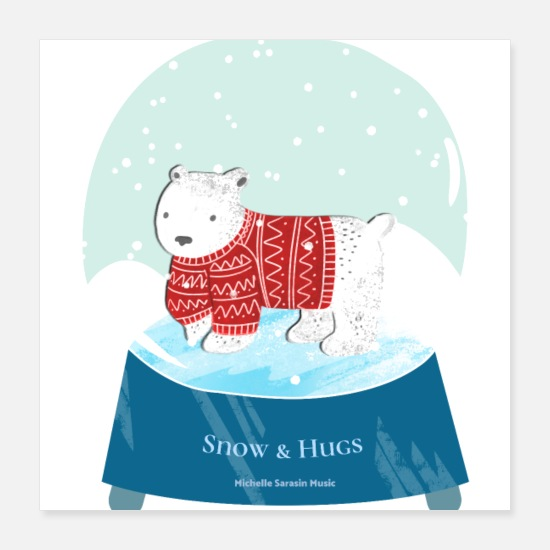 Music Posters - Snow & Hugs - Poster 16x16 white