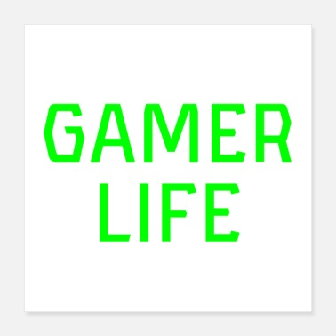 Computer Game Gamer Life Gamerlife Computer Console Video Gaming - Poster 16x16