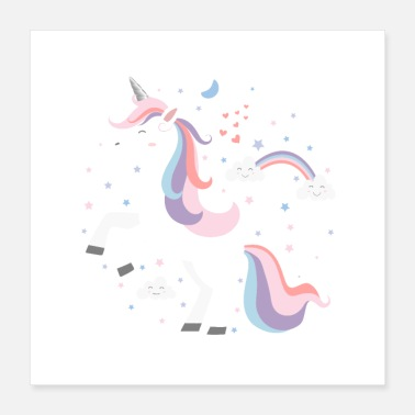 Unicornio cute Unicorn - Poster