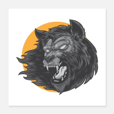 Monster Werewolf Monster - Poster 16x16
