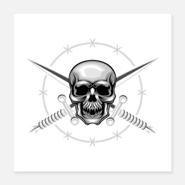 Sword Skull and Cross Swords - Poster