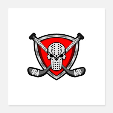 Crest Hockey mask & hockey sticks - Poster 16x16