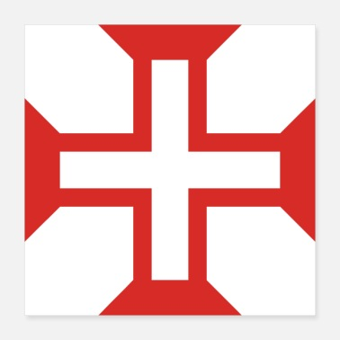 Christ Jesus Cross of the order of Christ - Poster 16x16