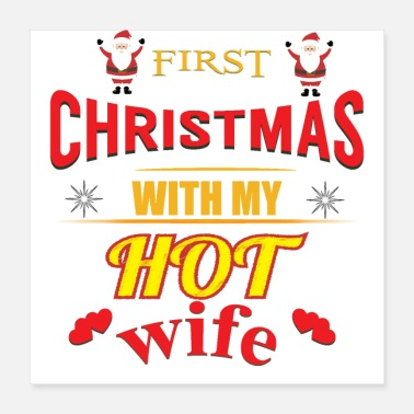 Wife Christmas with my wife - Poster 16x16