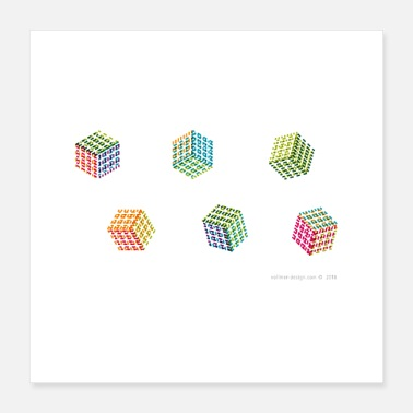 Cube Cubes - Poster 16x16