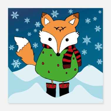 Advent Fox - Poster 16x16