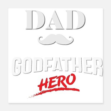 Hero Dad Godfather hero - Poster 16x16