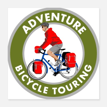 Bicycle BadgeWork Bicycle Touring - Poster 16x16