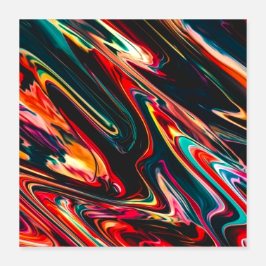 Paint Brush Abstract Paint Mix 6 - Poster 16x16