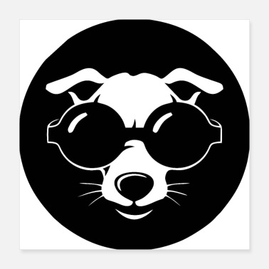 Animal Rights Cool animal dog with glasses - Poster 16x16