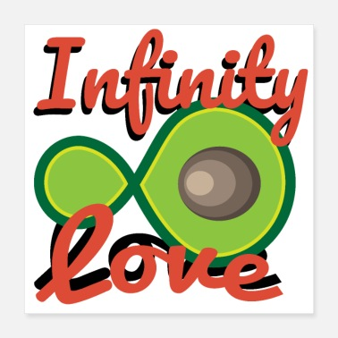Couples Avocado Infinity Love Partner Couple - Gift idea - Poster 16x16