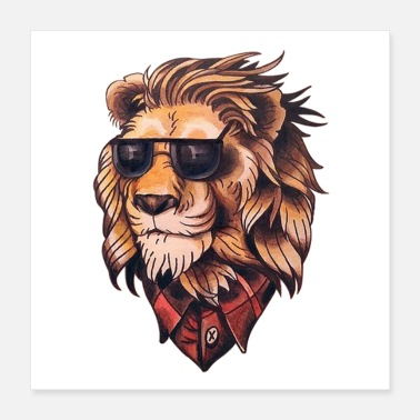 Zoo Lion - Poster 16x16