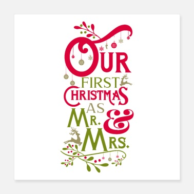 First Time Our first Christmas as Mr.& Mrs. Tee, Hoodie, Gift - Poster 16x16