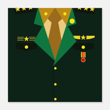 Insignia Dark green Military Uniform Medal - idea gift - Poster