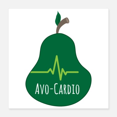 Exercise Avocado Avo-Cardio Cardio Exercises - Gift Idea - Poster 16x16