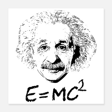 Freak Math Symbols Mass Energy Equivalence Einstein - Poster 16x16
